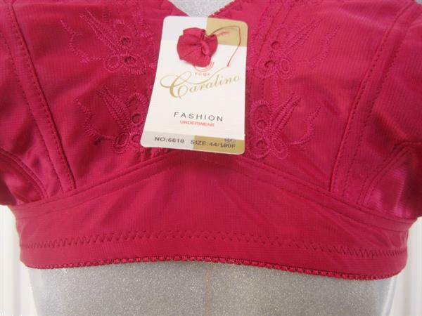 Grote foto elegante beugelloze wijnrode bh voor f cups kleding dames ondergoed en lingerie