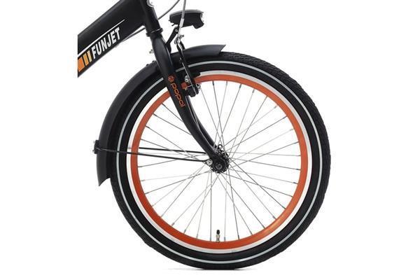 Grote foto supersuper funjet jongensfiets 20 inch mat zwart oranje fietsen en brommers kinderfietsen