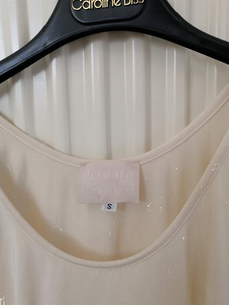 Grote foto champagne body in natuurzijde xs s kleding dames tops