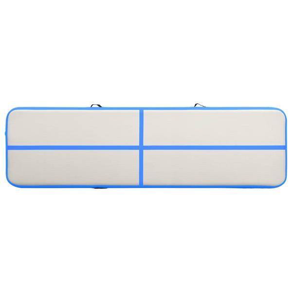 Grote foto vidaxl gymnastiekmat met pomp opblaasbaar 600x100x20 cm pvc sport en fitness fitness