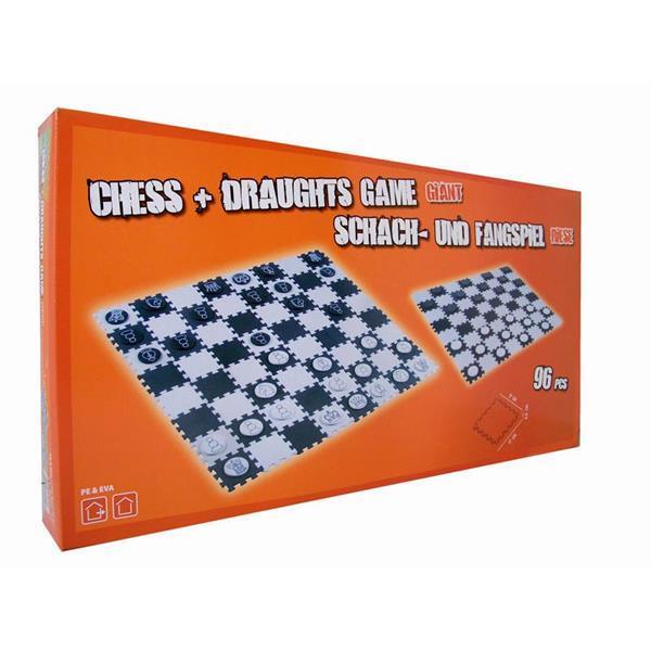 Grote foto schaak damspel 120x120 cm kinderen en baby puzzels