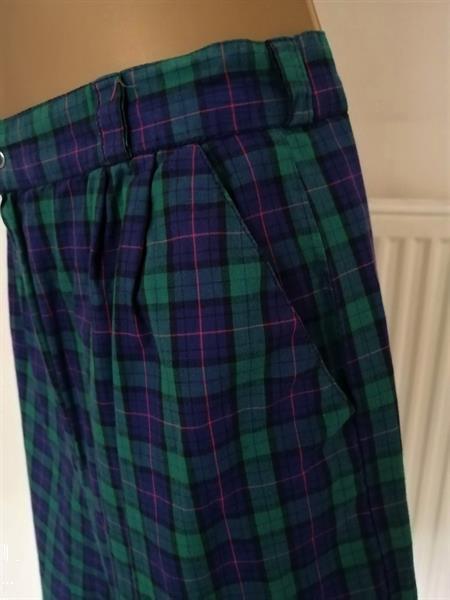 Grote foto blauw groen geruite bermuda short medium kleding dames broeken en pantalons