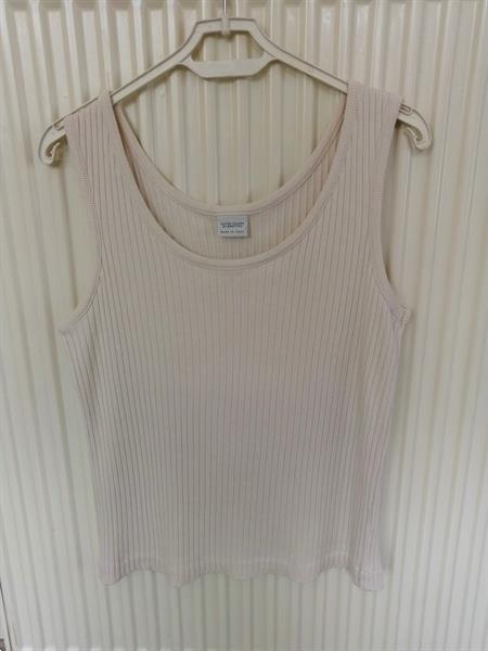 Grote foto ecru mouwloos topje van benetton medium kleding dames tops