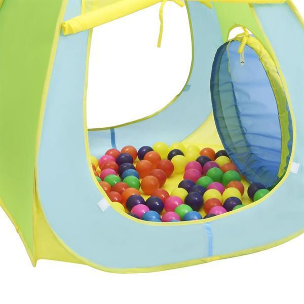 Grote foto vidaxl kinderspeeltent met 100 ballen meerkleurig kinderen en baby los speelgoed