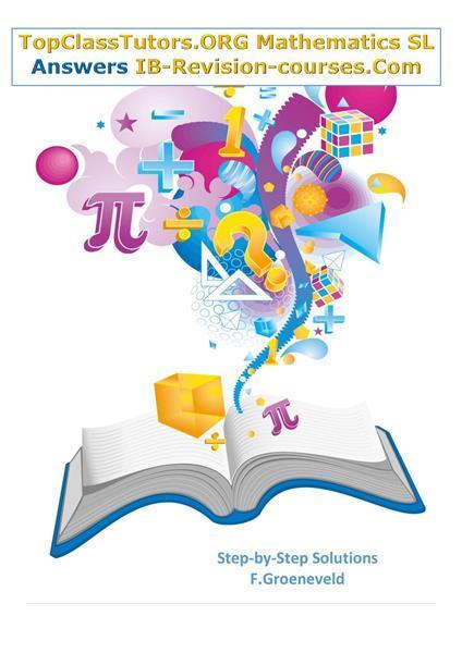 Grote foto ib math sl answers step by step solutions boeken studieboeken