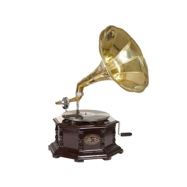 Grote foto grammofoon achthoekig old style collectie by homania muziek en instrumenten dj sets en draaitafels