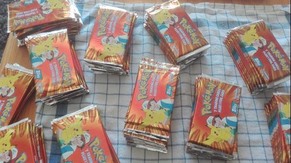 Grote foto pokemon topps 143 booster packs verzamelen overige verzamelingen