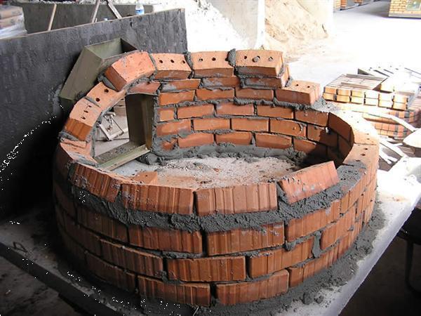 Grote foto originele steenoven pizza oven houtoven 80cm hobby en vrije tijd diversen