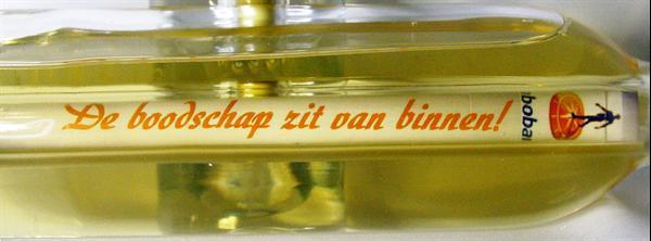Grote foto message in a bottle wijn diversen cadeautjes en bonnen