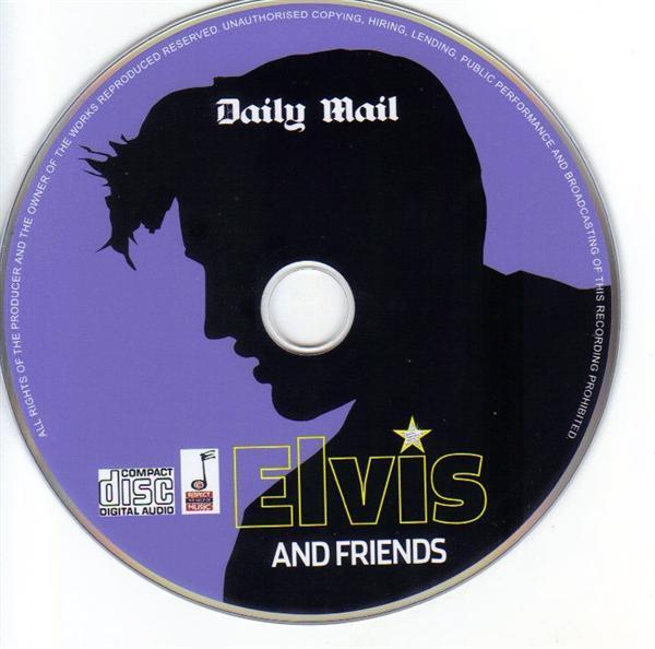 Grote foto originele promo cd elvis and friends daily mail muziek en instrumenten cds minidisks cassettes